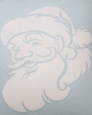 BALLOON STICKER SANTA FACE