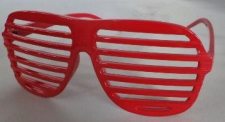GLASSES GRID RED