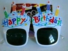 GLASSES HAPPY BIRTHDAY CANDLES