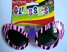 GLASSES BIG LADY ZEBRA PRINT