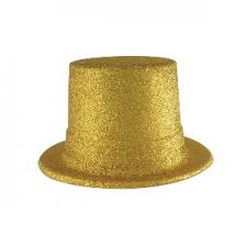 HAT TOP HAT GLITTER GOLD