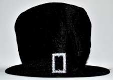 HAT MAD HATTER BLACK WITH BUCKLE