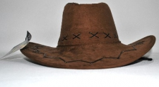 HAT COWBOY LEATHER BROWN