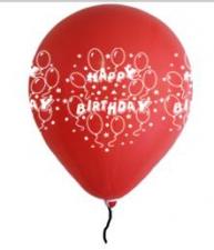 LATEX PRINTED HAPPY BIRTHDAY BALLOONS ASSTD 50's