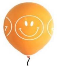 LATEX PRINTED SMILEY FACE BALLOONS ASSTD 10s