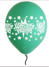 LATEX PRINTED WELCOME HOME BALOONS ASSTD 10'S