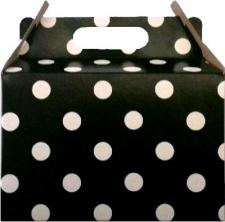 PARTY BOXES POLKA DOT BLACK 8'S