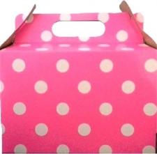 PARTY BOXES POLKA DOT BRIGHT PINK 8'S