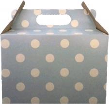 PARTY BOXES POLKA DOT LIGHT BLUE 8'S