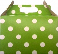 PARTY BOXES POLKA DOT LIME GREEN 8S