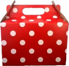 PARTY BOXES POLKA DOT RED 8S