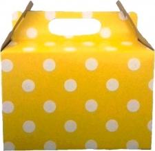 PARTY BOXES POLKA DOT YELLOW 8S