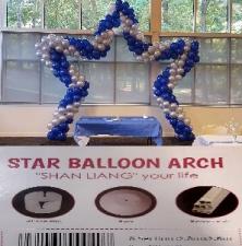 BALLOON DECOR ARCH STAR