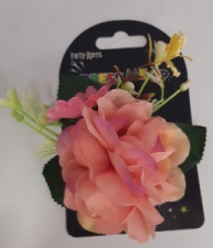HULA FLOWER HAIRCLIP PEACH