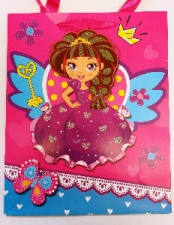 GIFT BAG PRINCESS FANCY MED 32 X 26 CM