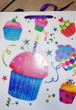 GIFT BAG BIRTHDAY CAKE LRG 40 X 30 CM