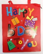 GIFT BAG HAPPY BIRTHDAY LRG 40 X 30 CM