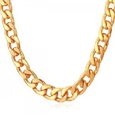 NECKLACE GOLD THICK CHAIN
