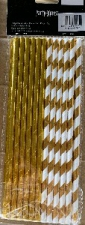 STRAWS PAPER 25s GOLD WITH FOIL