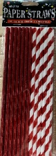 STRAWS PAPER 25s RED WITH FOIL