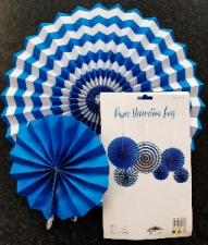 PAPER FAN DARK BLUE 6S