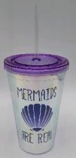 PLASTIC DRINKING CUP MERMAID REAL