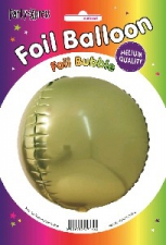 BALLOON 34CM FOIL LIME TO GOLD