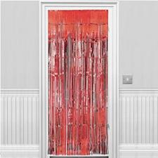 DOOR CURTAIN RED 1 X 2M