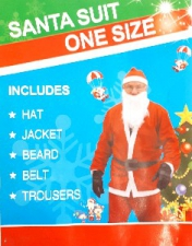CHRISTMAS SANTA COSTUME DELUX