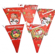 CHRISTMAS BUNTING 10PCS ASSORTED