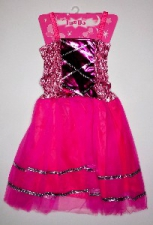 PRINCESS DRESS BRIGHT PINK