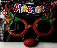 CHRISTMAS GLASSES REINDEER