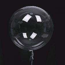 BALLOON PLASTIC BOBO CLEAR