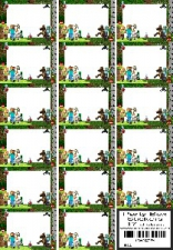 PARTY BOX STICKERS MINECRAFT 17'S