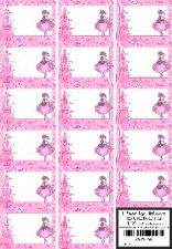 PARTY BOX STICKERS BALLET 17'S