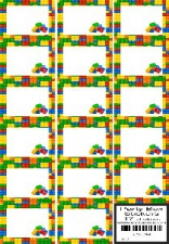 PARTY BOX STICKERS BLOCKS 17'S