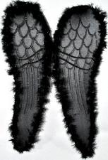 WINGS ANGEL 58CM BLACK