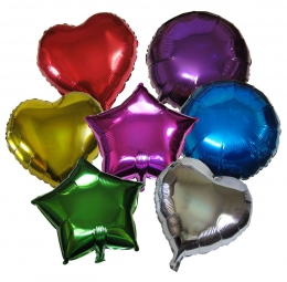 FOIL SOLID COLOUR AND DECORATER BALLOONS